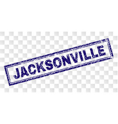 Scratched jacksonville rectangle stamp vector