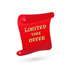 Scroll with limited time offer vector