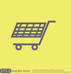 shopping cart icon vextor vector image