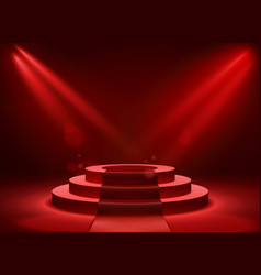 stage podium lighting award ceremony victory vector image