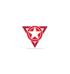 star triangle emblem logo vector image
