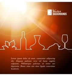 Style line of vine design vector