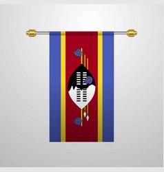 Swaziland hanging flag vector