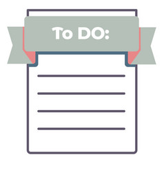to do list empty piece paper with lines vector image