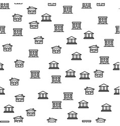 types of city building seamless pattern vector image