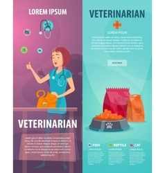 Vet Clinic Vertical Banners vector image vector image