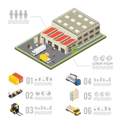 Warehouse Isometric Infographics vector image