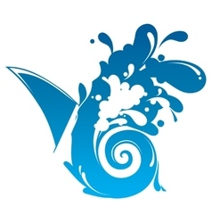 Waves Splashing vector image