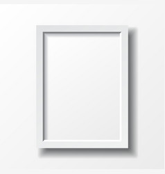 White vertical frame vector image