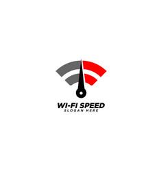 Wifi speed logo design template vector