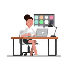 woman designer searching vector image
