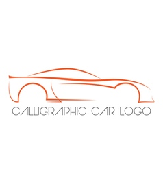 Calligraphic car logo vector image