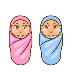 cartoon newborn vector image