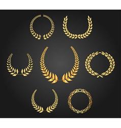 Golden Wreath vector image vector image