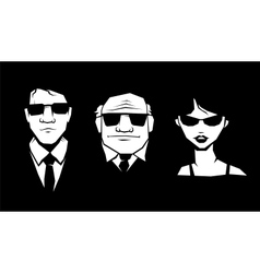 Mafia peoples vector image vector image