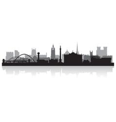 Newcastle city skyline silhouette vector image vector image
