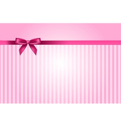 pink background with bow vector image vector image