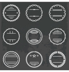 set of emblems and badges vector image vector image