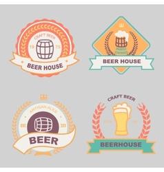 Beer bub bar label design logo vector image