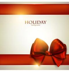 Christmas Bow Card Template vector image
