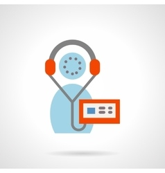 Flat color sign for audio book icon vector