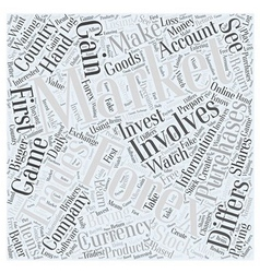 Forex Trading should you invest Word Cloud Concept vector image vector image