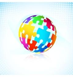 multicolored puzzle pieces vector image