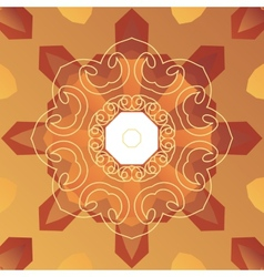Oriental cover design Stylized vignette on vector image