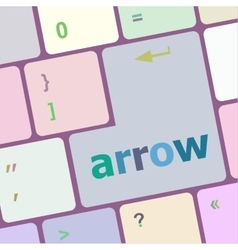 arrow button on computer keyboard key vector image vector image