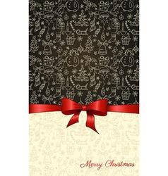 ChristmasBlackBambVS vector image
