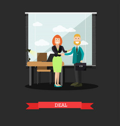 deal concept in flat style vector image vector image