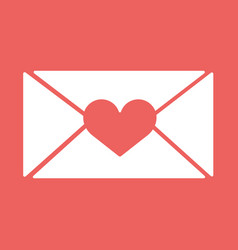 E-mail envelop icons with heart wax pressfor vector
