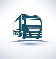 europian truck outlined symbol vector image
