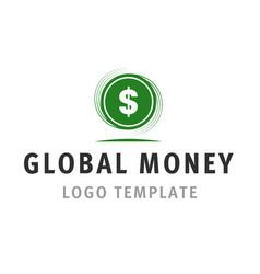 global money logo template vector image vector image