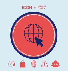 go to web internet icon vector image