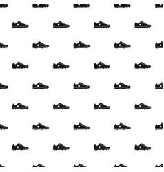 soccer shoe pattern vector image vector image