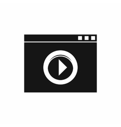 Video player icon simple style vector image
