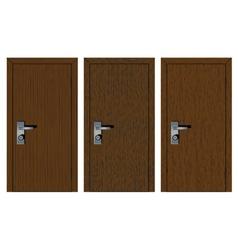 Wooden doors with different texture vector