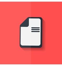 File icon Data symbol Document format Flat design vector image