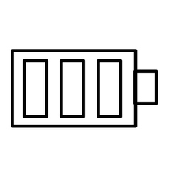 isolated battery design icon graphic vector image