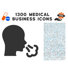 sneeze icon with 1300 medical business icons vector image vector image