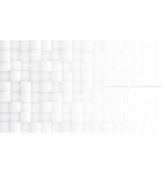 3d tetragons white abstract background vector