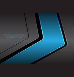 abstract blue dark gray metal arrow vector image