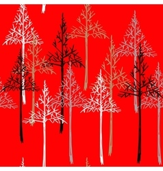 Abstract spruce tree forest background Christmas vector image