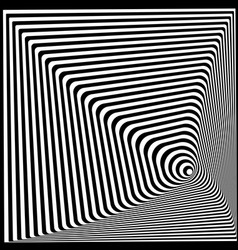 Abstract twisted black and white optical vector