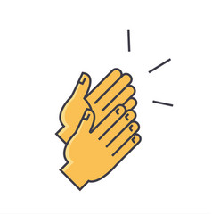 Applause clapping hands concept line icon vector