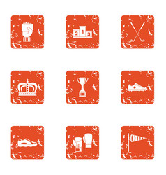 Ascent icons set grunge style vector
