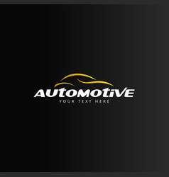 automotive car logo design template isolated vector image