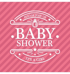 Baby Shower Emblem vector image