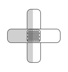 ban aid icon vector image